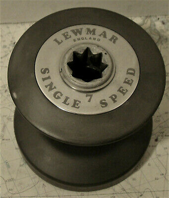 Lewmar 7 Standard Winch, Black Anodized, just serviced, 4 avail.