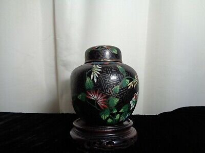 1920s  cloisonne Jar and cover