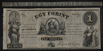 Hungarian Fund Philadelphia (1)Bank Note  1 Forint Nd(1852) P S 141 Very Fine