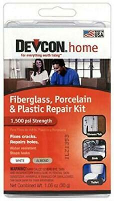 Devcon Epoxy Bathtub Repair Kit (Almond & White) 2 PACK