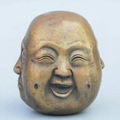 Collectable China Old Bronze Hand Carve All Sides Buddha Moral Auspicious Statue