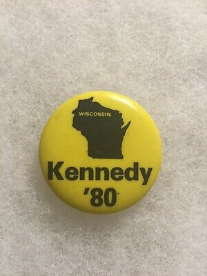 Democratic Presidential Candidate Kennedy Wisconsin Pinback Button