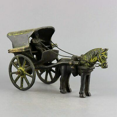 AAA Collectable Old Bronze Hand-Carved China Qin Dynasty Chariot Delicate Statue