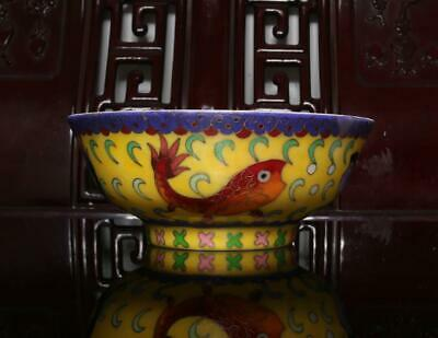 Old Cloisonne Chinese Porcelain Fish Bowl Chenghua MK