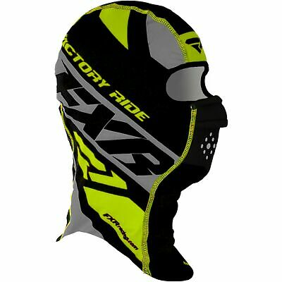 FXR Boost Anti-Fog Balaclava Facemask Black/Gray/Hi-Vis LG