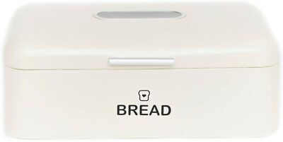 """Vintage Bread Box For Kitchen Stainless Steel Metal 16.5"""" x 9"""" x 6.5"""" NEW!"""
