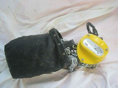 FULLY WORKING Clean YALE 0.5 Ton TONNE Chain Hoist with 8m CHAIN Model D-42549