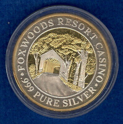 Limited Edition Gold Gilded 1.49 oz .999 Silver Foxwoods Resort Casino Strike