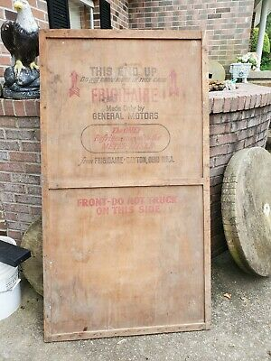 Large Wood Shipping Crate Antique Advertising