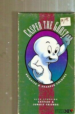 Casper the Ghost Vol 1: Boo Moon & The Friendly Ghost (1990) 1st Video ~ VHS