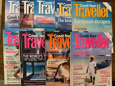 Conde Nast Traveller Magazine Year 2003 - 9 Issues Collection Lot Vogue