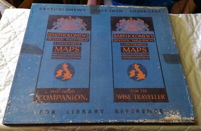 Bartholomew's Revised Half-Inch Maps England & Wales in Wooden Box