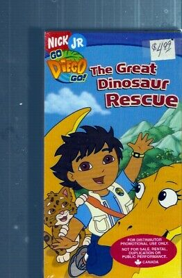 Brand New Sealed - Go Diego Go: The Great Dinosaur Rescue (2006) Nick Jr ~ VHS