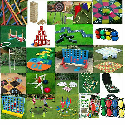 Giant Garden Games Outdoor Kids Family Activity Sports Game Tennis Hopscotch Toy