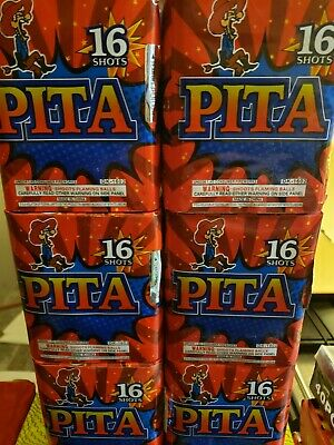 Pita 200g cut off collectable Firework labels (salute)