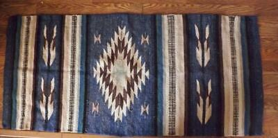 "Southwestern Native or Mexican Weaving Rug Textile Throw Wall Hanger 26"" x 60"""