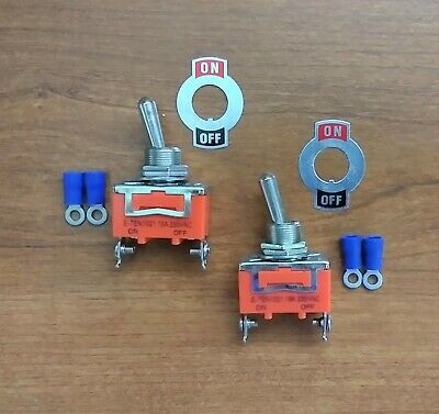 2 BBT Brand On/Off Heavy Duty Marine Grade Toggle Switches