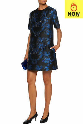 RRP€2685 STELLA MCCARTNEY Jacquard A-Line Dress Size 38 XS Floral Made in Italy