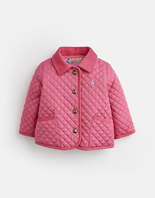 Joules Baby Girls Mabel Quilted Jacket - HOT PINK Size 0m-3m