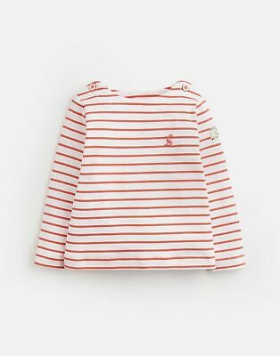 Joules Baby Girls Harbour Jersey Top Shirt - PINK CREAM STRIPE Size 3m-6m