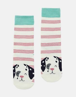 Joules Girls Neat Feet   Character Intarsia Socks -  Size Childrens 9-12