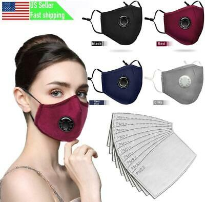 Fashion Cotton Face Mask Washable Reusable Activated Carbon USA