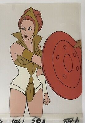 Teela's Losing Her Shield Original Animation Production Cel He-man MOTU