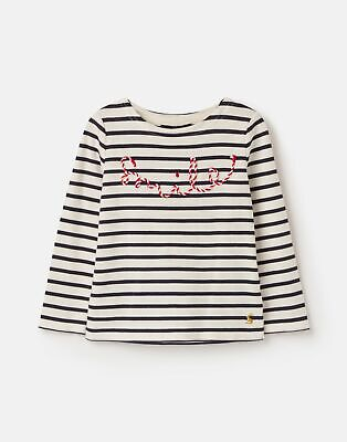 Joules Girls Festive Harbour Luxe   Embellished Top  -  Size 7yr-8yr