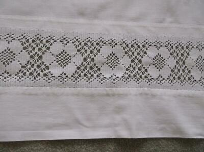 Vintage Sheet Cotton Lace Edge~