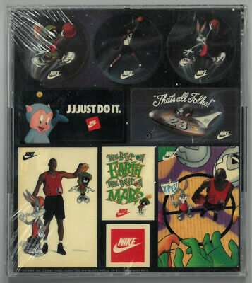 1993 Nike Stickers Michael Jordan Space Jam Stickers Brand New In Package