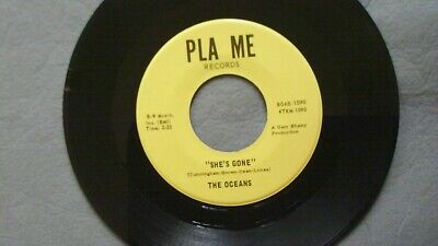 Very Rare 45 rpm vinyl record - THE OCEANS - SHE'S GONE  - Ohio Garage Rock