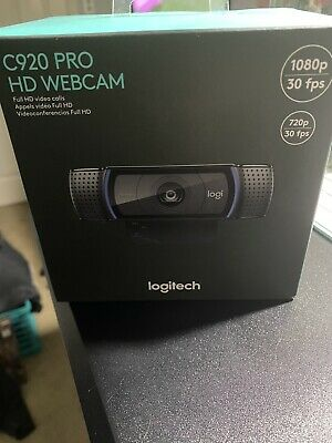 Logitech HD C920 Pro Webcam - Black - New