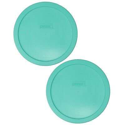 Pyrex 7402-PC Light Green Plastic Food Storage Replacement Lid Cover (2-Pack)