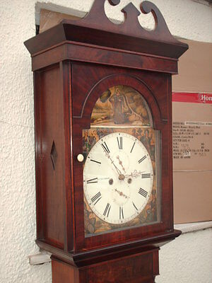 Antique Scottish Grandfather / Longcase Airdrie Clock ( Fair Maid Of Perth )