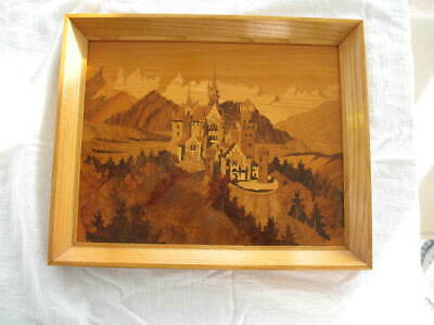 Buchschmid Gretaux German Wood Inlay Marquetry Signed BG