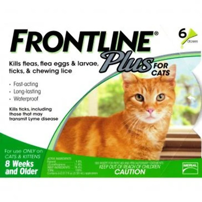 Frontline Plus Cats all sizes 6 Pack EPA 6 months NO expiration date