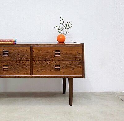 Danish Modern Rosewood Entry Console Chest Table Kai Kristiansen Mid Century