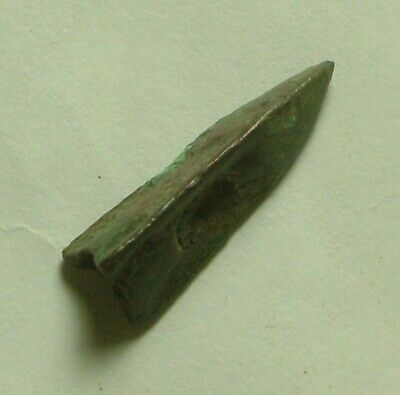 Rare genuine ancient Celtic Scythian Greek arrowhead patina poison opening 3C BC