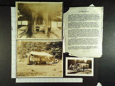 Glenn Curtiss 1st Mobile Home Design 3 Photos & Info Sheet Hunting Ex Woodhouse