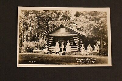 1930-1950 Rppc Real Photo Postcard Ranger Station Cantwell Cliff Hocking Hills
