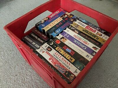 Lot collectible VHS tapes - 90's collection - music, action, horror, adventure