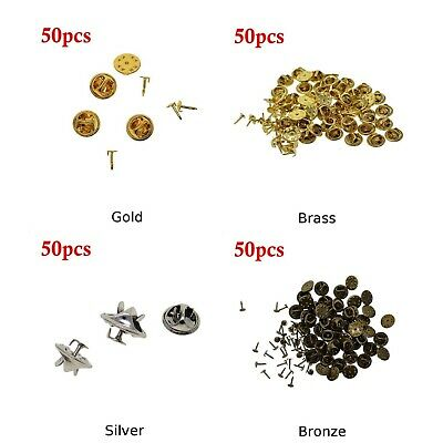 50pcs/set Pins + Snap Buttons DIY Brooch Round Clasps Pin Tie Tacks Jewelry New