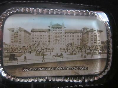 Early 1900's Hotel Galvez Galveston Texas Glass Paperweight Photo