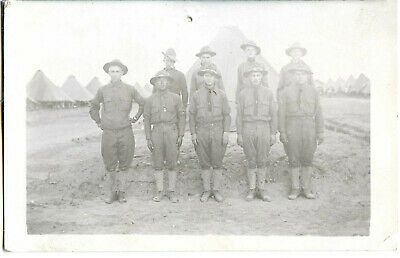 RPPC of Pershing's army in Mexico, nine soldiers from the Sgt. Tom Elliott coll.