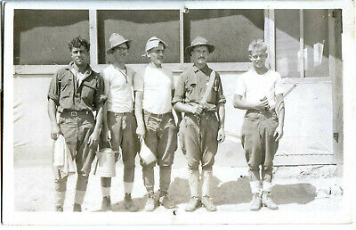 RPPC of Pershing's army in Mexico,  5 cooks  from the Sgt. Tom Elliott coll.