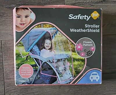 New! Weather Shield Stroller Rain Cover Canopy Standard Stroller Universal Size