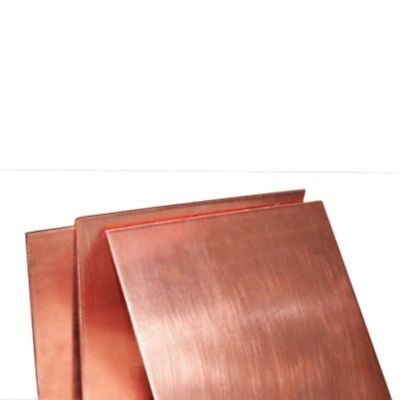 1pc 100mm × 100mm x 0.8mm 99.9% Pure Copper Cu Metal Sheet Plate Freeship
