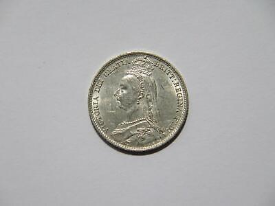 Great Britain 1890 6 Pence Queen Victoria Low Grade Silver World Coin 🌈⭐🌈