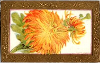 Vintage Postcard Postmarked 1910 Orange Flowers 213