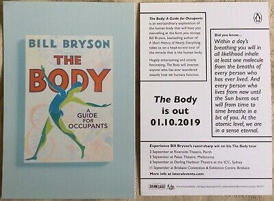 Promotional Postcard Bill Bryson's The Body A Guide For Occupants Book Release